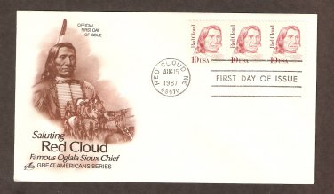 Native American Indian Red Cloud, Oglala Teton Sioux, AC First Issue USA