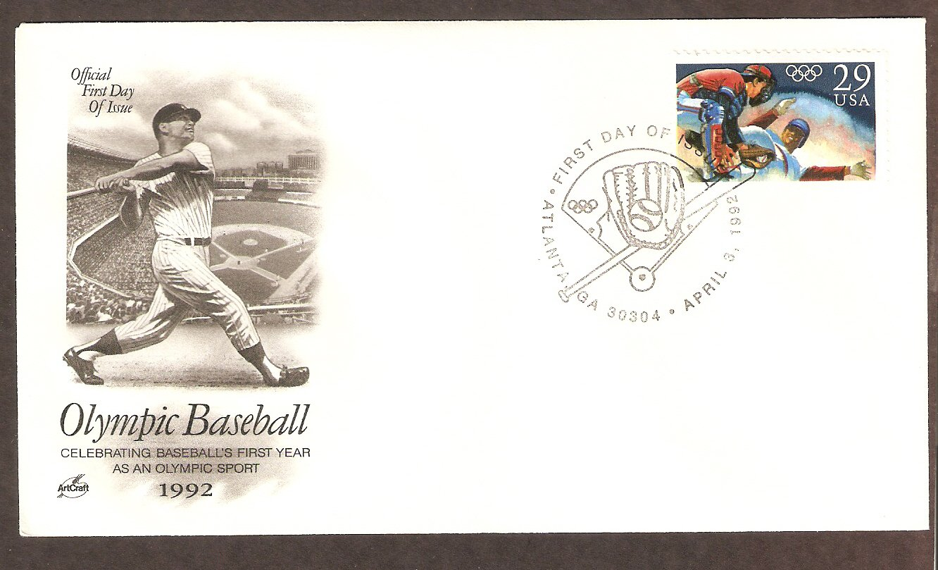 The Acceptance of Baseball as an Official Olympic Sport, Barcelona, Spain, AC First Issue USA