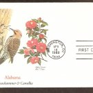 Alabama Birds and Flowers, Yellowhammer and Camellia, FW First Issue USA