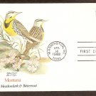 Montana Birds and Flowers, Western Meadowlark and Bitterroot, FW First Issue USA