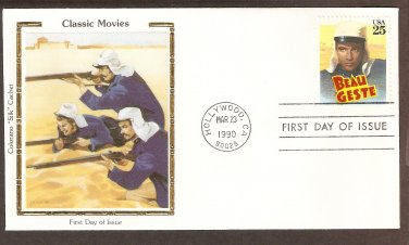 Honoring Beau Geste, Gary Cooper, Hollywood, Colorano Silk First Issue USA
