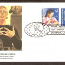 Deaf Communication, American Sign Language, 1993 USA FDC, First Day of Issue