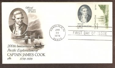 Captain James Cook 200th Anniversary, Hawaii First Issue USA