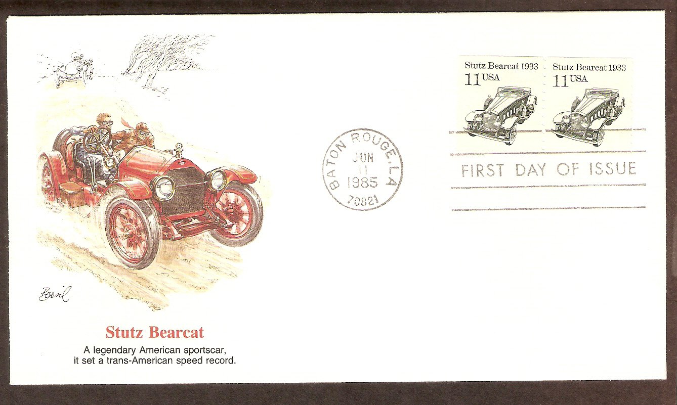 Stutz Bearcat 1933, Automobile, FW First Issue USA FDC