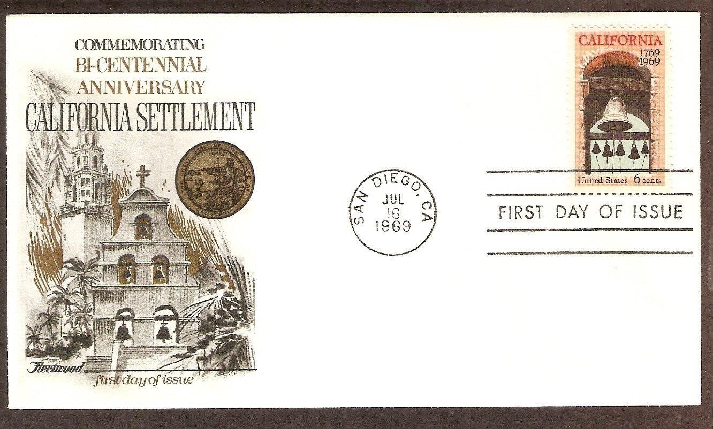 California Bicentennial, Mission Bells at Carmel, San Diego FW First Issue USA