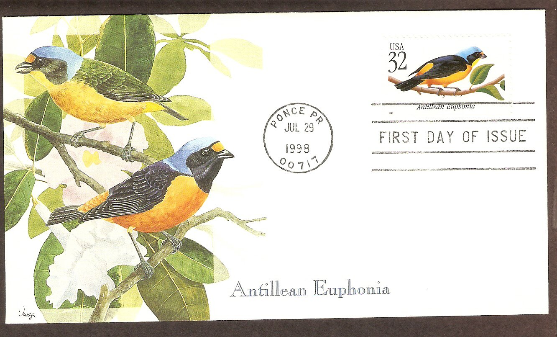 Tropical Birds, Antillean Euphonia, Puerto Rico, First Issue USA
