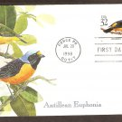 Tropical Birds, Antillean Euphonia, Puerto Rico, First Issue USA