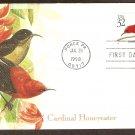 Tropical Birds, Cardinal Honeyeater, Puerto Rico, First Issue USA