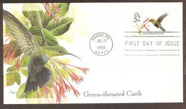 Tropical Birds, Green-throated Carib Hummingbird, Puerto Rico, First Issue USA
