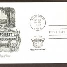 Smokey the Bear, Forest Conservation, 1958 First Day of Issue USA