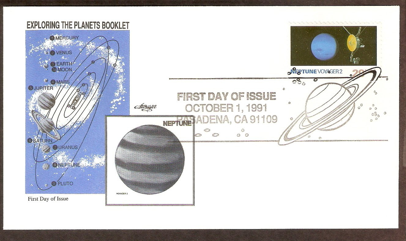 NASA Exploring the Planets, Voyager 2, Neptune, 1991 First Issue USA