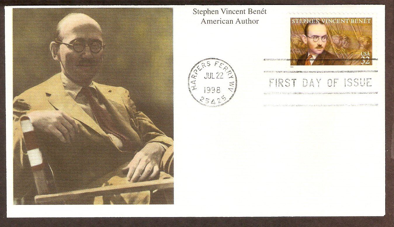 Honoring  Stephen Vincent Benet,  American Author, Poet, Short Story Writer and Novelist, Mystic USA