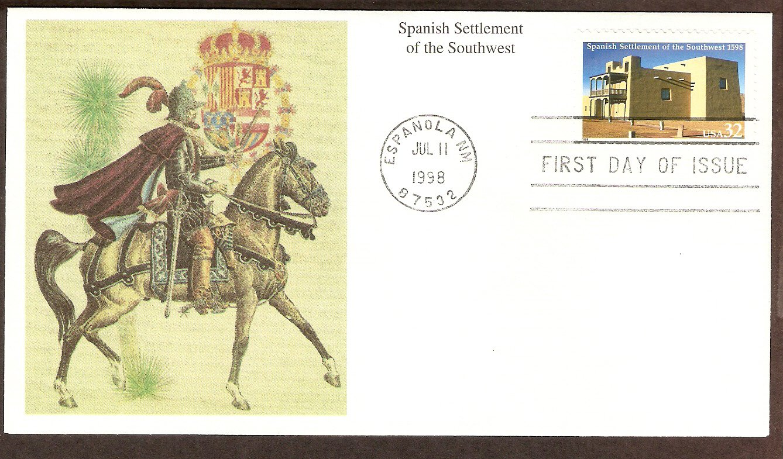 400th Anniversary Spanish Settlement of the Southwest 1598, Mission de San Miguel de San Gabriel FDC