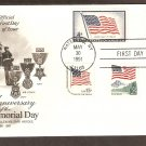 Anniversary of the First Memorial Day, US Flags, Military Medals, Combo First Issue USA