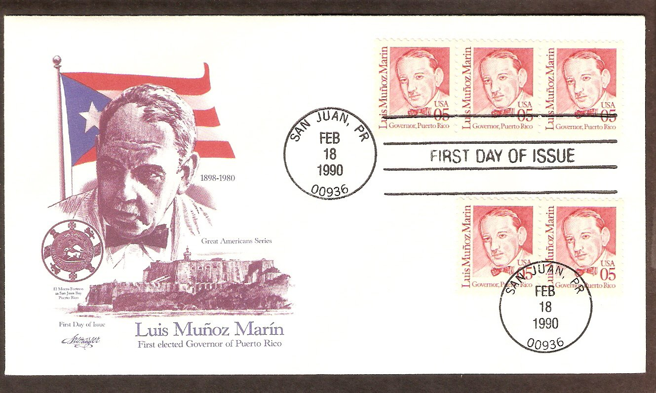 Puerto Rico First Governor Luis Marin, San Juan, AM First Issue USA