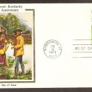 First Kentucky Settlement Fort Harrod, 200th Anniversary, Colorano Silk, First Issue USA
