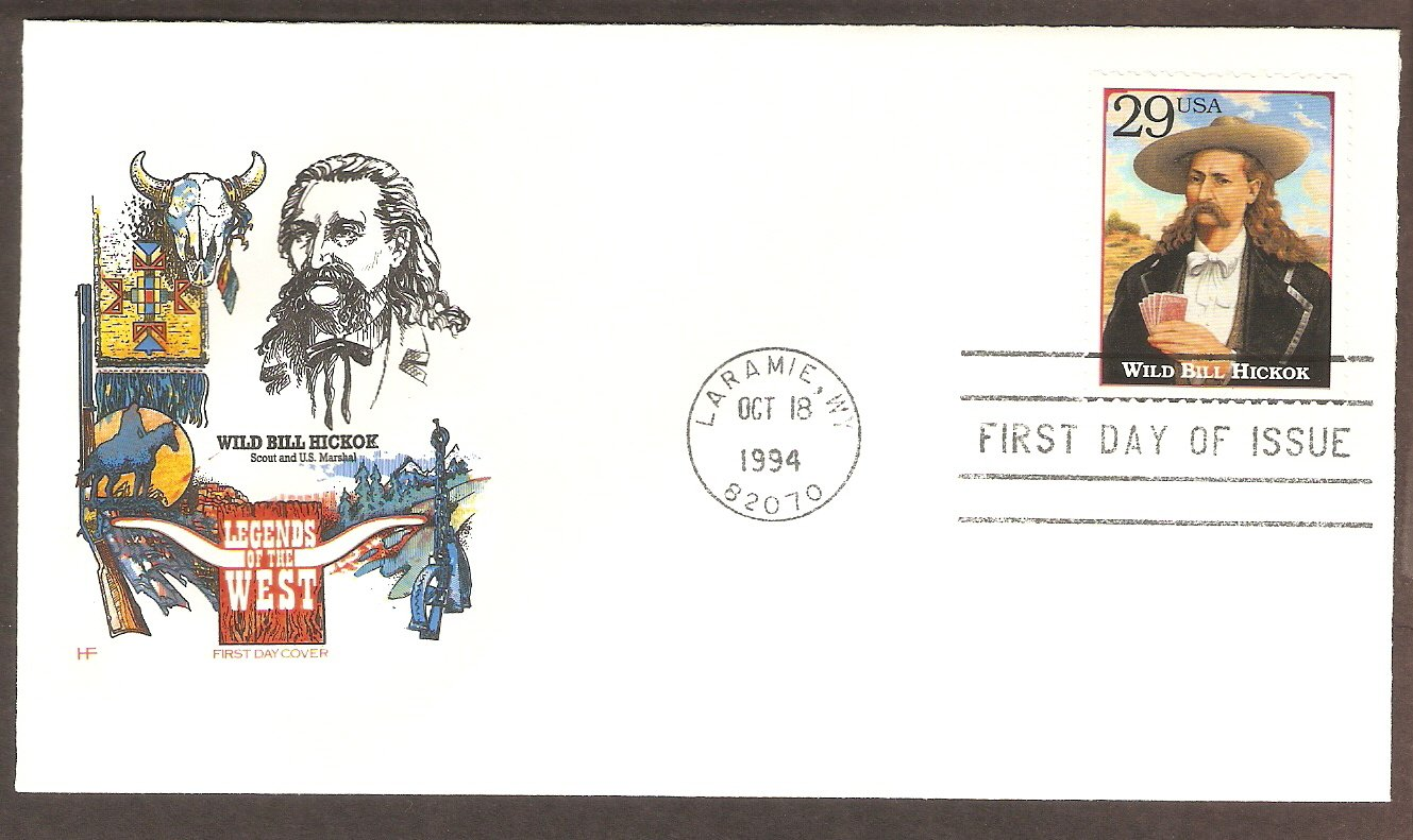 Wild Bill Hickok Playing Poker, Wyoming, HF First Issue USA