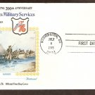 Bicentennial Revolutionary War Uniforms, Continental Marines, First Day Issue Cover, 1975 USA