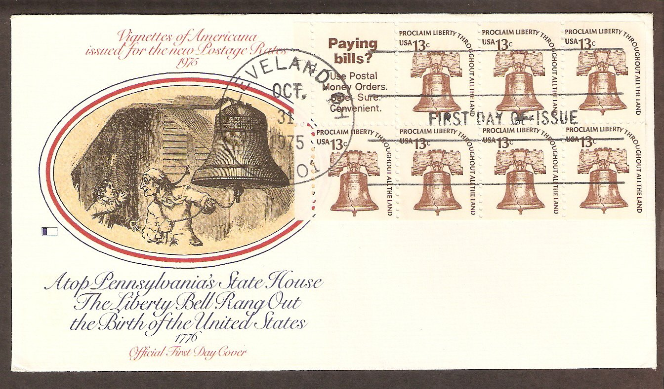 Liberty Bell, Symbol of America's Fight for Independence During the Revolution, First Issue USA