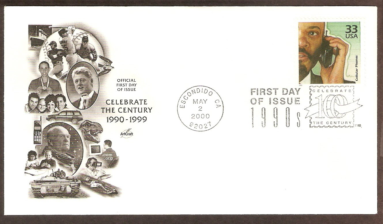 Celebrating the Century, 1990s, Cellular Phones, First Issue USA