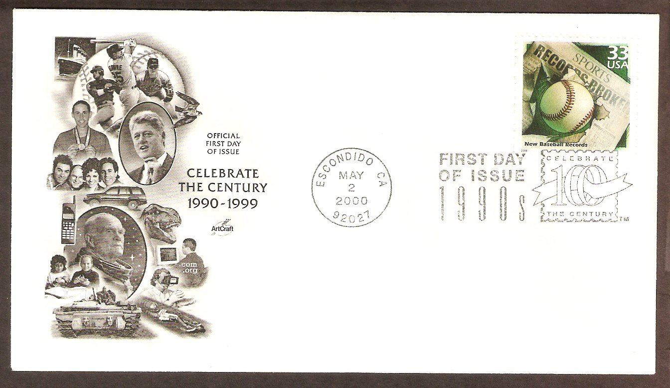 Celebrating the Century, 1990s, New Baseball Records, First Issue USA