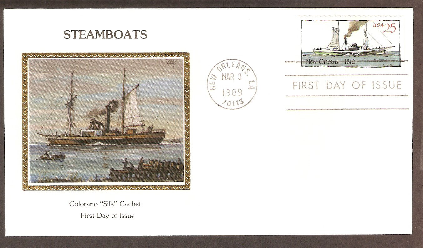 American Steamboat, New Orleans, 1812, CS First Issue USA