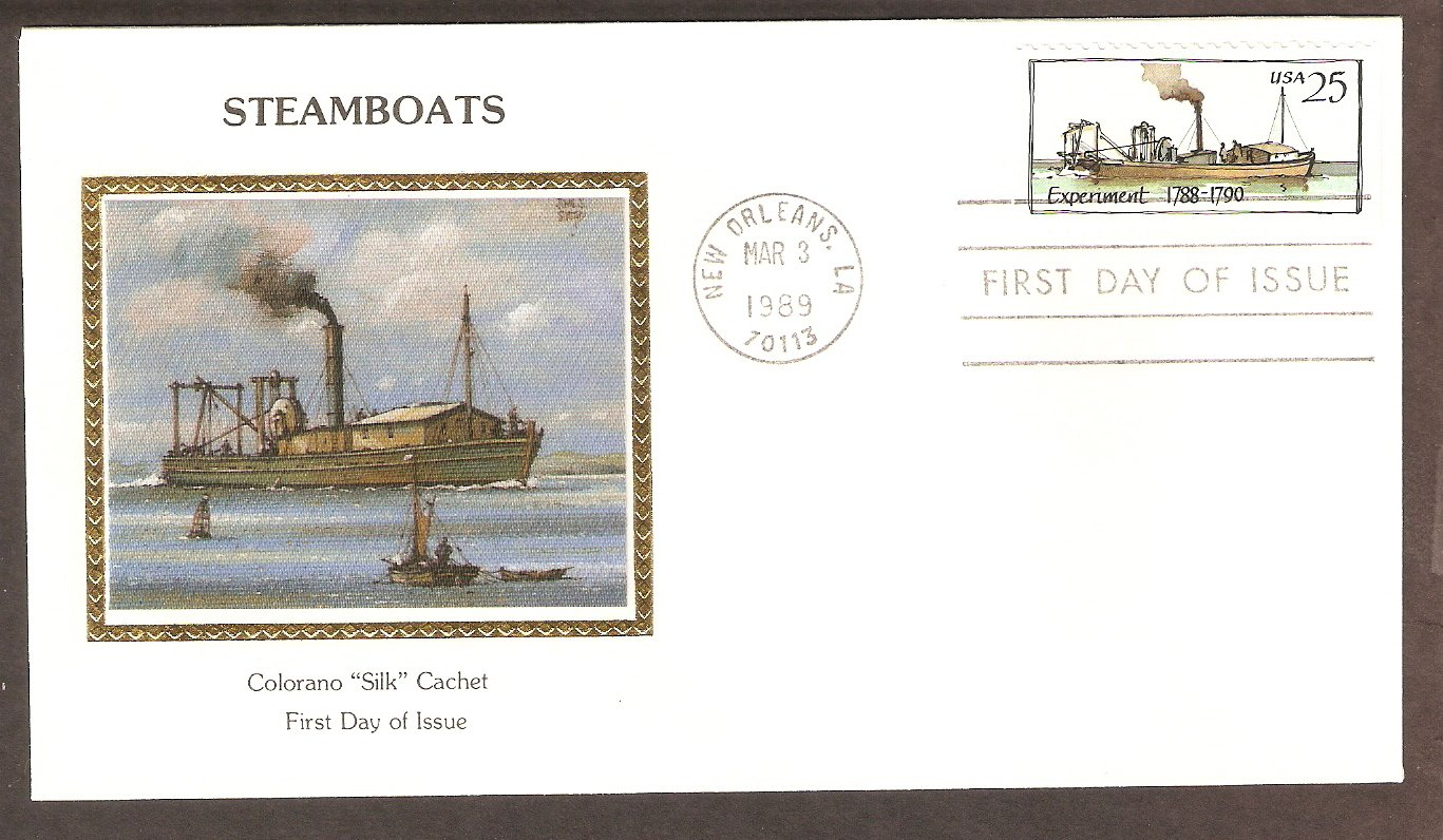 American Steamboat, Experiment, 1788-1790, CS First Issue USA