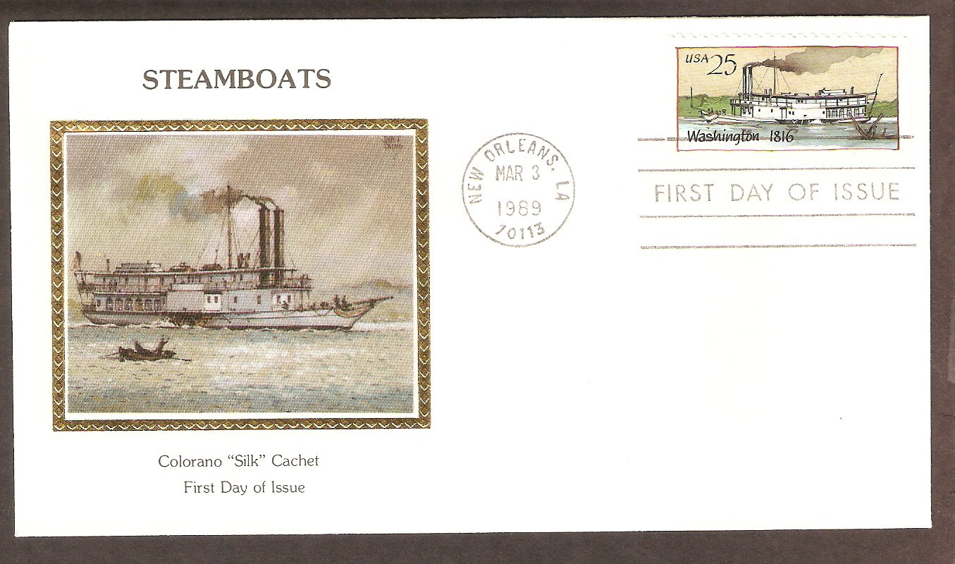 American Steamboat, Washington, 1816, CS First Issue USA