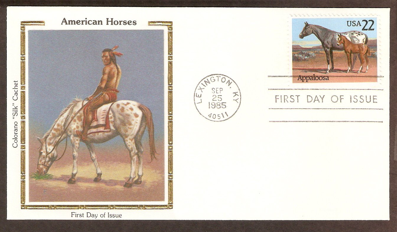 Appaloosa Horse, Lexington, Kentucky CS First Issue USA