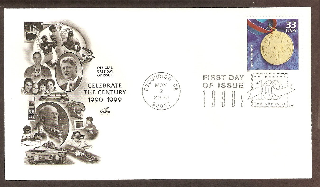 Celebrating the Century, 1990s, Special Olympics, First Issue USA
