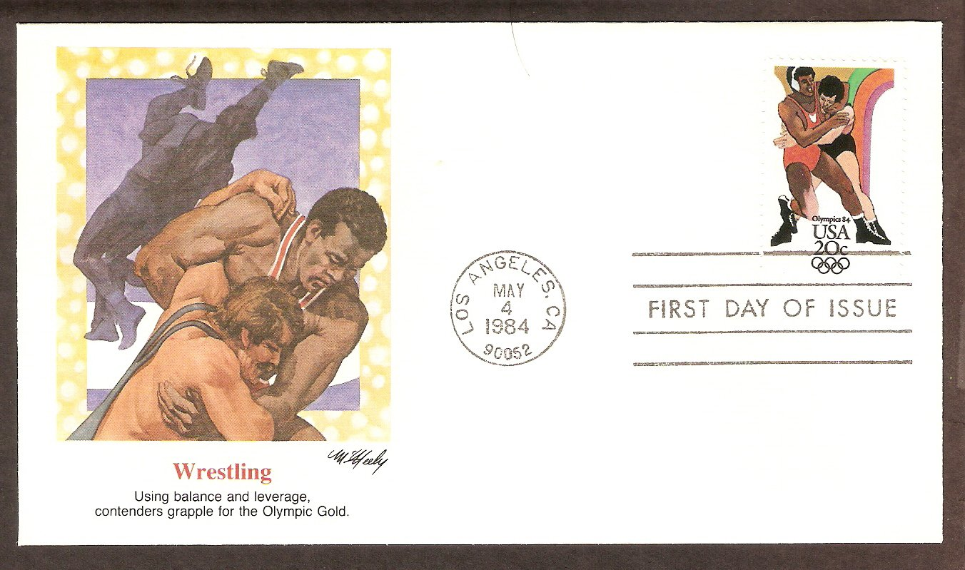 Summer Olympics 1984, Wrestling, First Issue USA