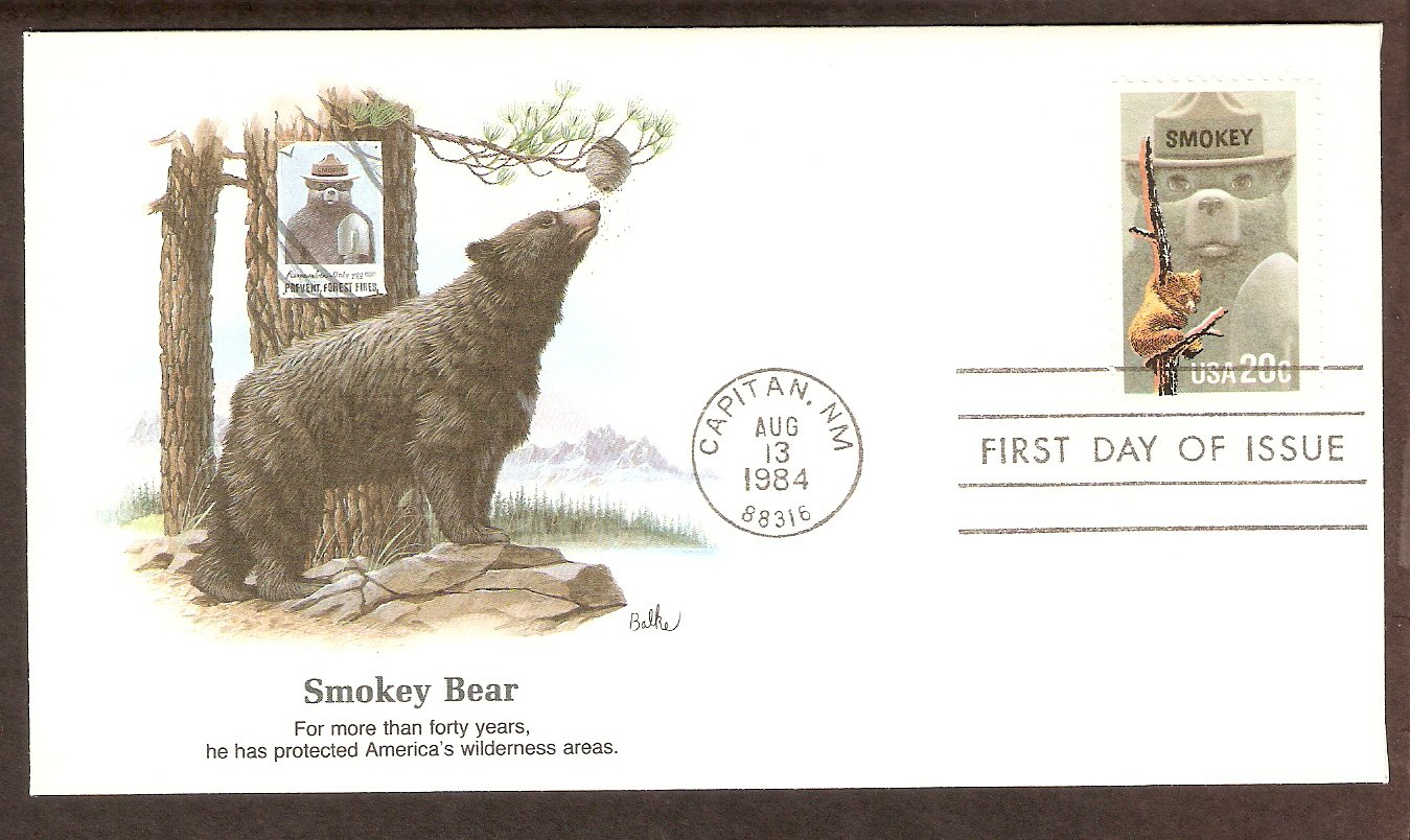 Smokey the Bear Prevent Forest Fires, Fleetwood First Issue FDC USA