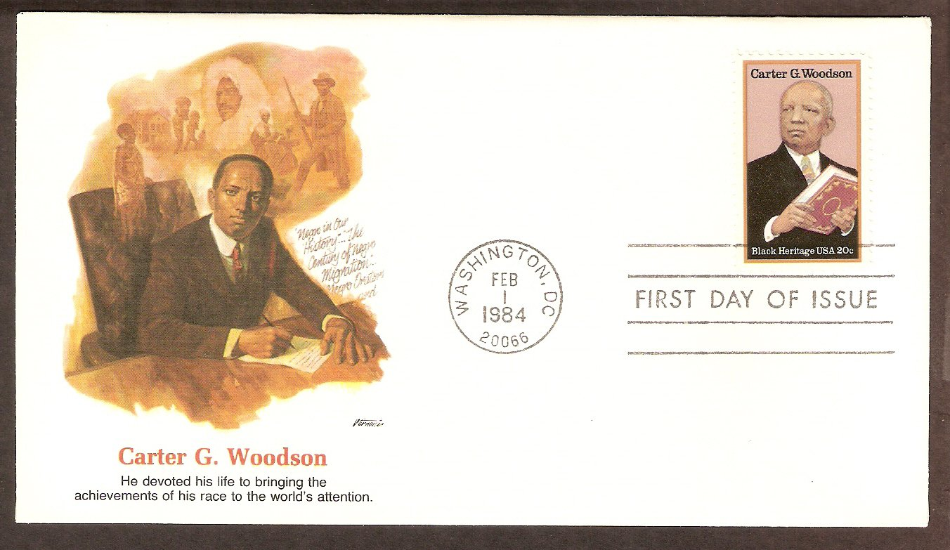 Black History, Carter G. Woodson, Historian, FW First Issue USA