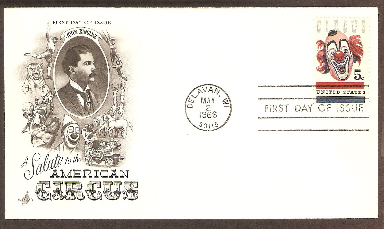 Clown, American Circus, First Issue 1966, Wisconsin, USA