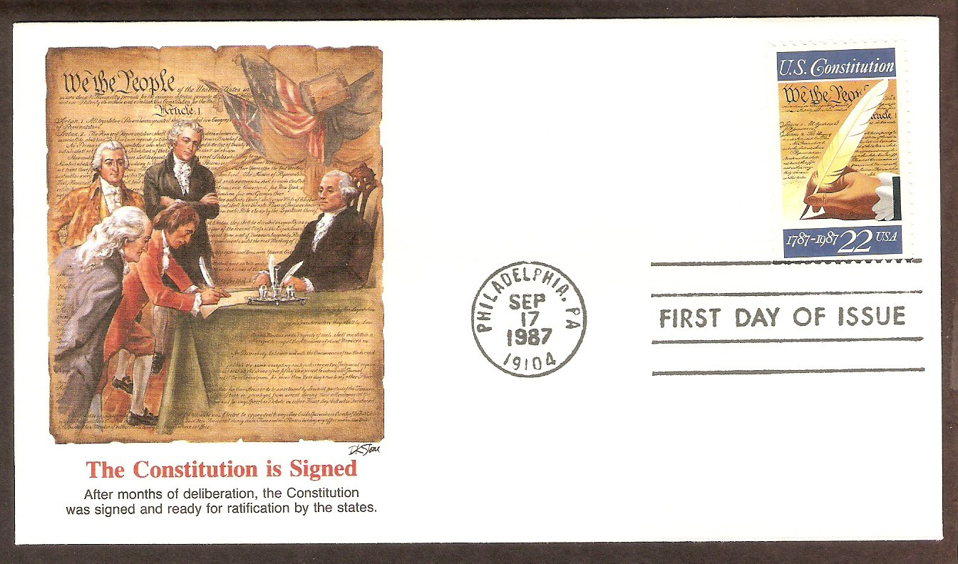 Signing the Constitution Bicentennial, Fleetwood First Issue USA