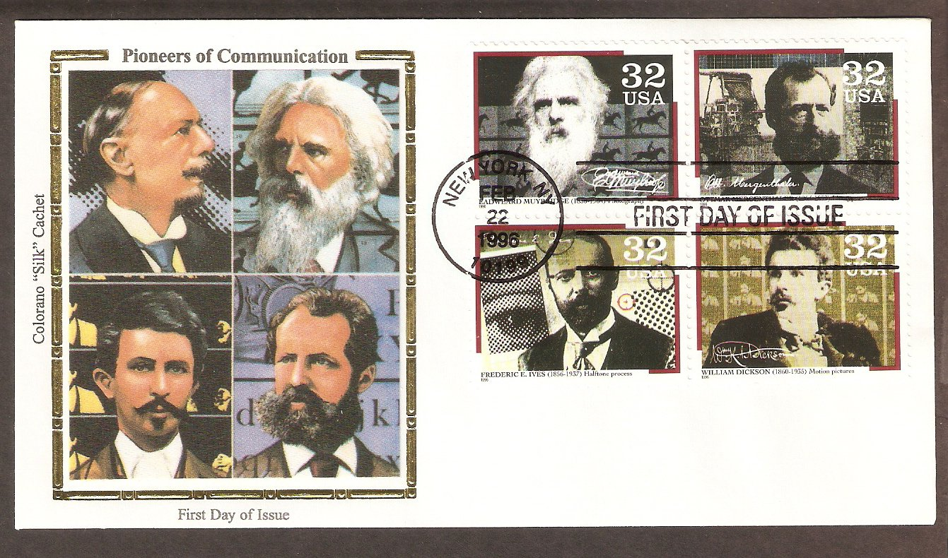 Pioneers of Communication, Ives, Mergenthaler, Dickson, Muybridge, CS First Issue USA