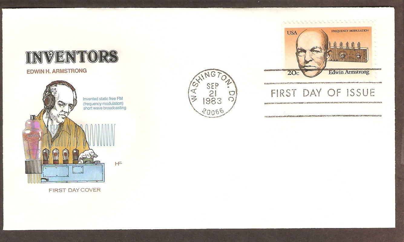 Edwin Armstrong, Inventor, Father of FM Radio, 1983 HF First Issue USA