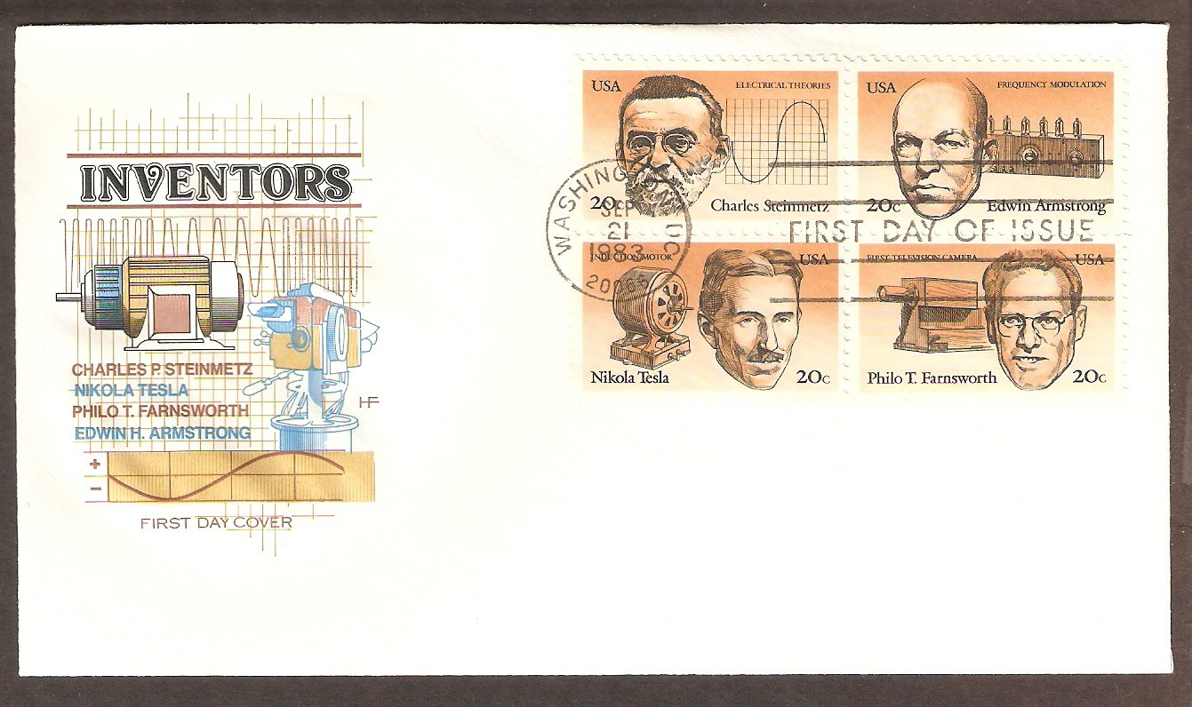 Nikola Tesla, Charles Steinmetz, Edwin Armstrong, Philo Farnsworth, Inventors, 1983 HF First Issue