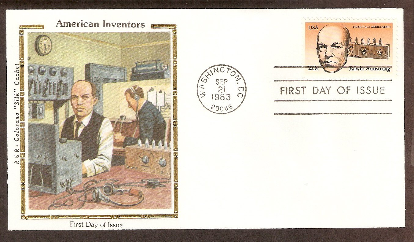 Edwin Armstrong, Inventor, Father of FM Radio, 1983 CS First Issue USA