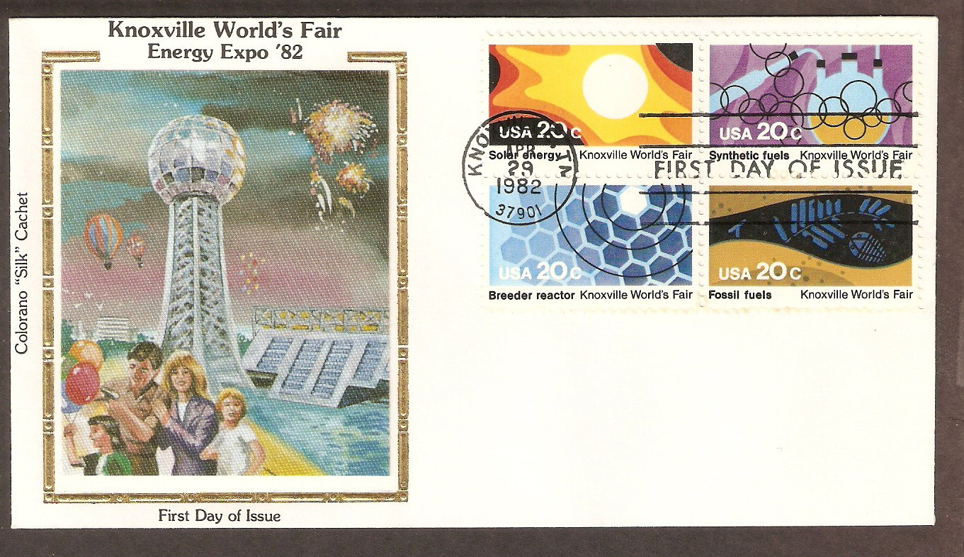 Knoxville World's Fair, Energy, Fuels, 1982 CS First Issue USA