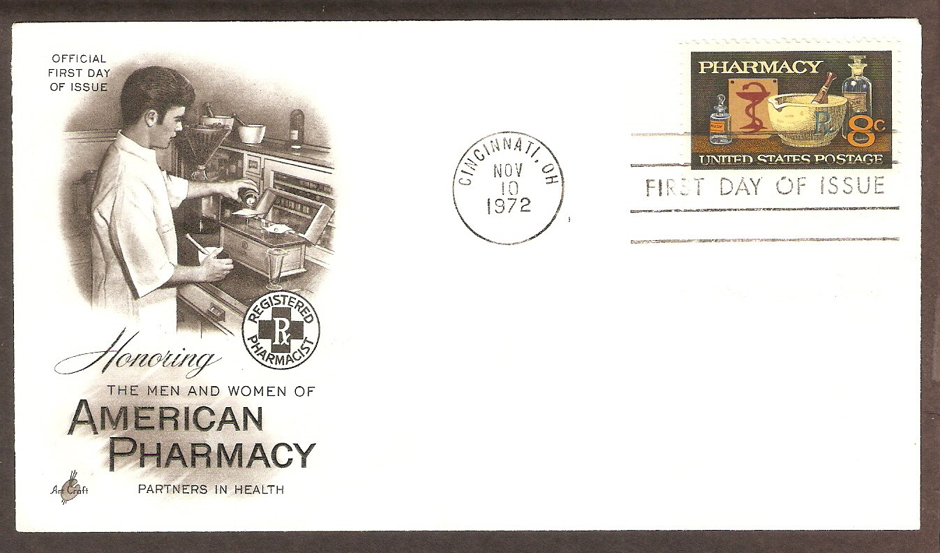 Pharmaceutical, Pharmacist, First Day of Issue Pharmacy FDC USA