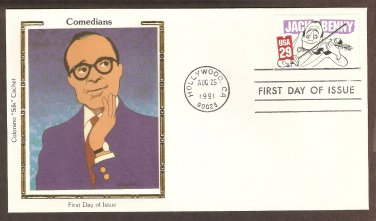 Jack Benny, Al Hirschfeld, Colorano First Day of Issue USA FDC