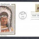 Assiniboine Indian Headdress Native American CS First Issue USA FDC