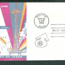 Seattle World's Fair, 1962, Space Needle, Washington, First Issue First Cachet USA FDC