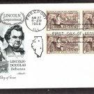 Abraham Lincoln Sesquicentennial, Lincoln-Douglas Debates 1958 First Issue USA