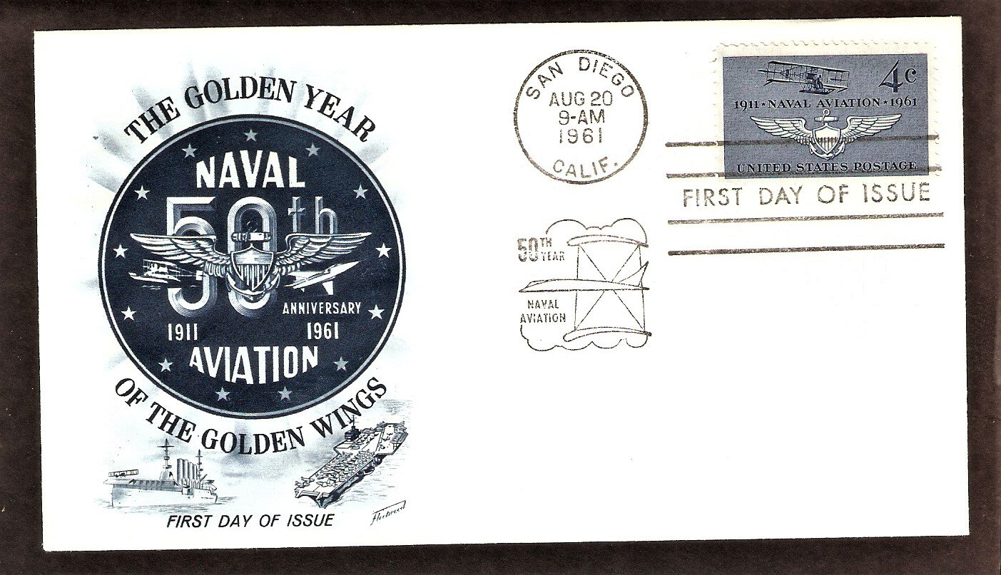 50th Anniversary of Naval Aviation, FW 1961 First Issue USA