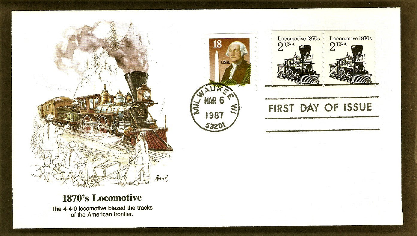 Steam Locomotive 1870s, Railroad, The American Express Train, Fleetwood B First Issue USA