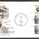 Honoring Frank Lloyd Wright, Architecture, 1968 BP First Issue FDC USA