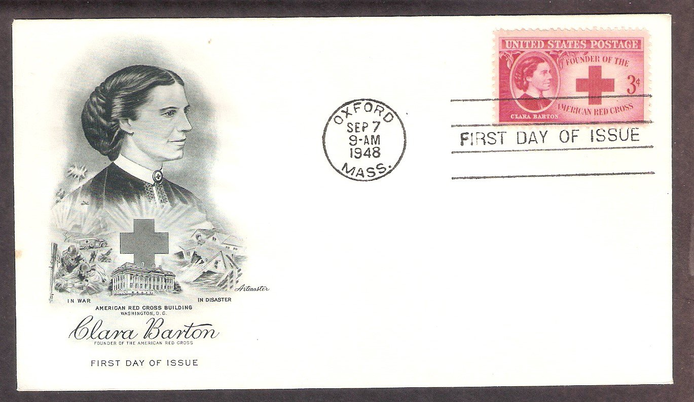 Civil War Nurse Clara Barton 1948 Red Cross AM First Issue USA