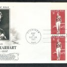 Amelia Earhart, Aviatrix, Woman Aviation, AC Plate Block 1963 First Issue USA